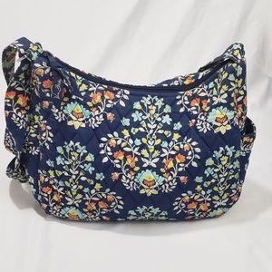 Vera Bradley Navy Floral Small Shoulder Bag